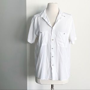 NBW AMERICAN APPAREL White Button Up